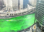 chicago river kleurt groen