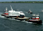 spaceshuttlle naar new york